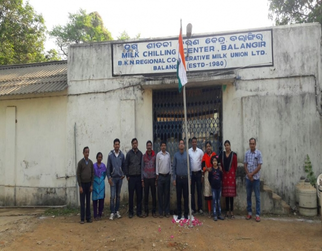 Celebration of republic day at Balangir MCC
